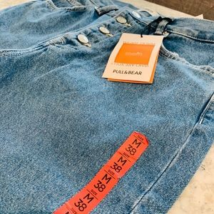 NEW Pull and Bear Button Fly Jeans Size 6
